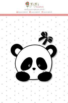 """Coleção Abraço de Urso by Estúdio 812 - Carimbo Mini """"Panda"""" / JuJu Scrapbook  - JuJu Scrapbook"""