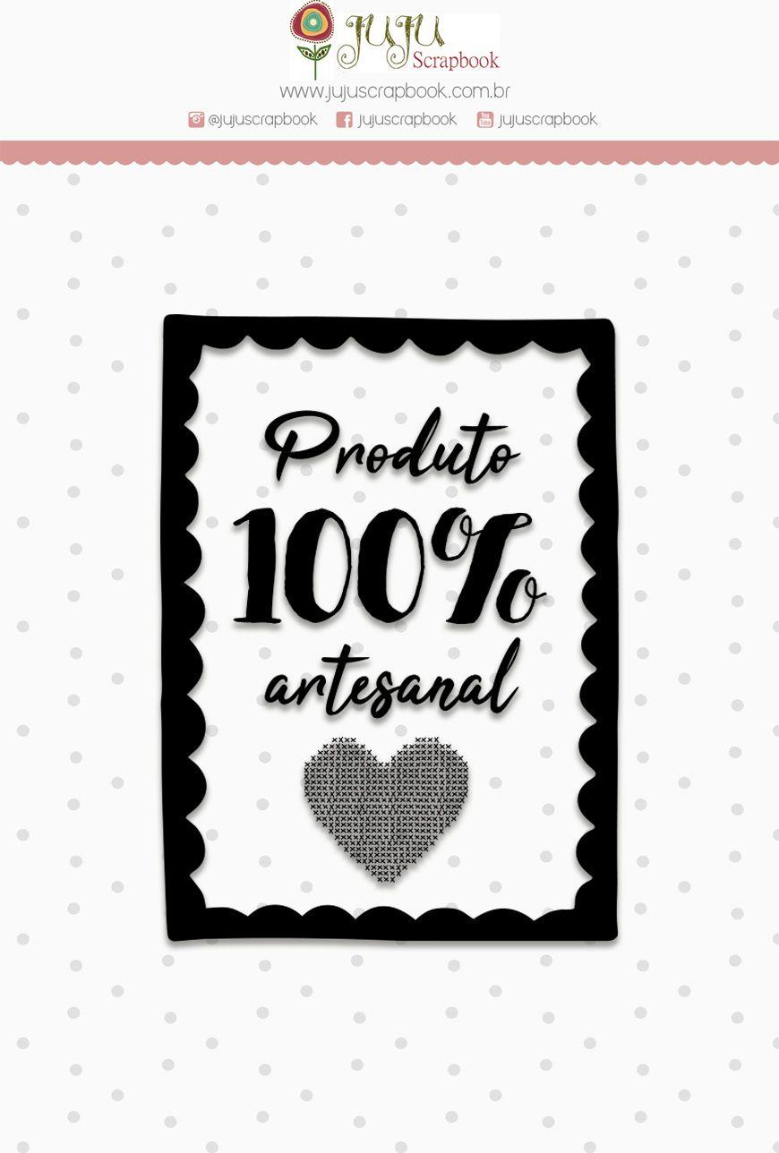 "Coleção Love Scrap - Carimbo M ""100% Artesanal"" / JuJu Scrapbook  - JuJu Scrapbook"