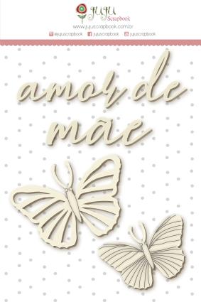 "Coleção Shabby Dreams by Babi Kind - Cartela de Enfeite ""Amor de Mãe"" / JuJu Scrapbook  - JuJu Scrapbook"