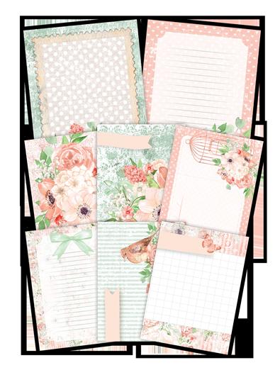 "Coleção Shabby Dreams by Babi Kind - Kit de Cards ""Buquê de Flores"" / JuJu Scrapbook  - JuJu Scrapbook"