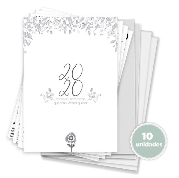 Kit 10 unidades Agenda Datada - Coleção Toda Básica / JuJu Scrapbook  - JuJu Scrapbook