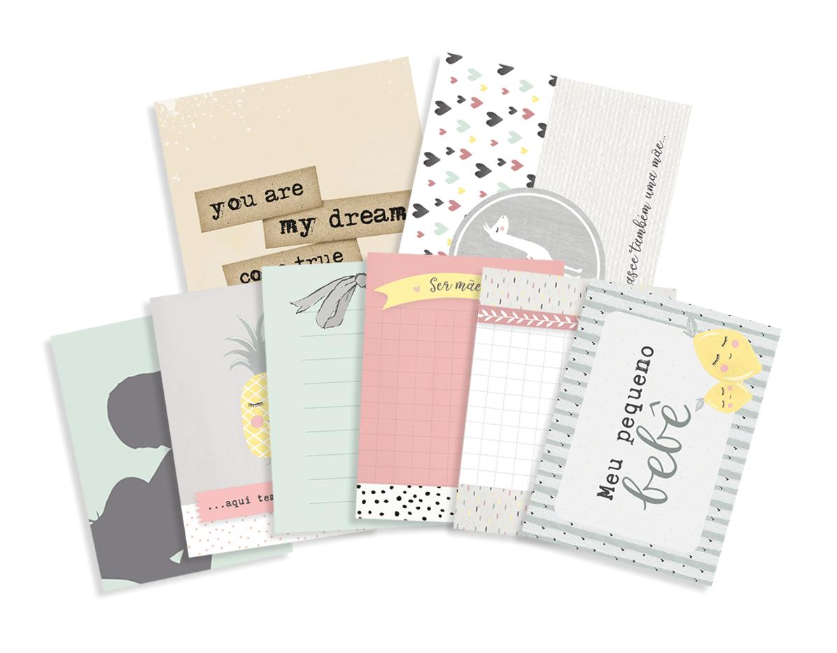 """Kit de Cards Modelo """"Meu Pequeno Bebê"""" - Coleção Meu Coração é Seu / JuJu Scrapbook  - JuJu Scrapbook"""