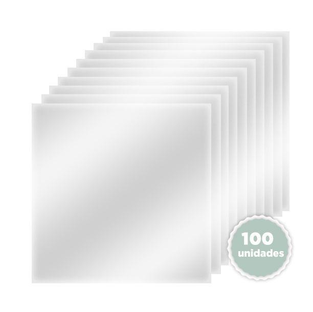 Kit de Plásticos de Vinil 30 x 30 com 100 unidades - JuJu Scrapbook  - JuJu Scrapbook