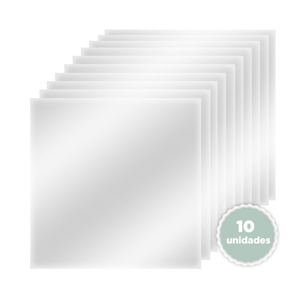 Kit de Plásticos de Vinil 30 x 30 com 10 unidades - JuJu Scrapbook  - JuJu Scrapbook