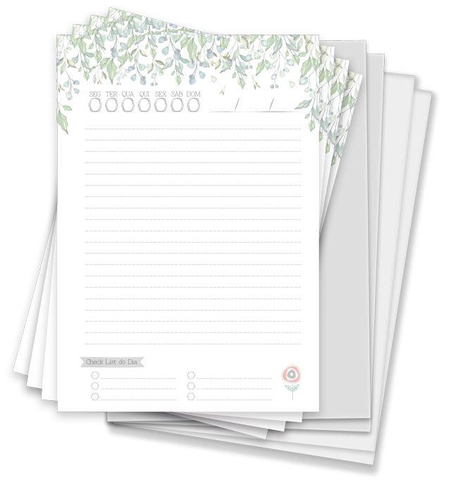 Kit para Agenda Permanente - Coleção Toda Básica / JuJu Scrapbook  - JuJu Scrapbook