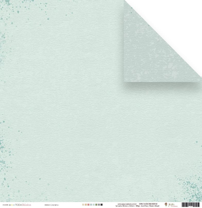 Papel Cristalino - Coleção Toda Básica / JuJu Scrapbook  - JuJu Scrapbook