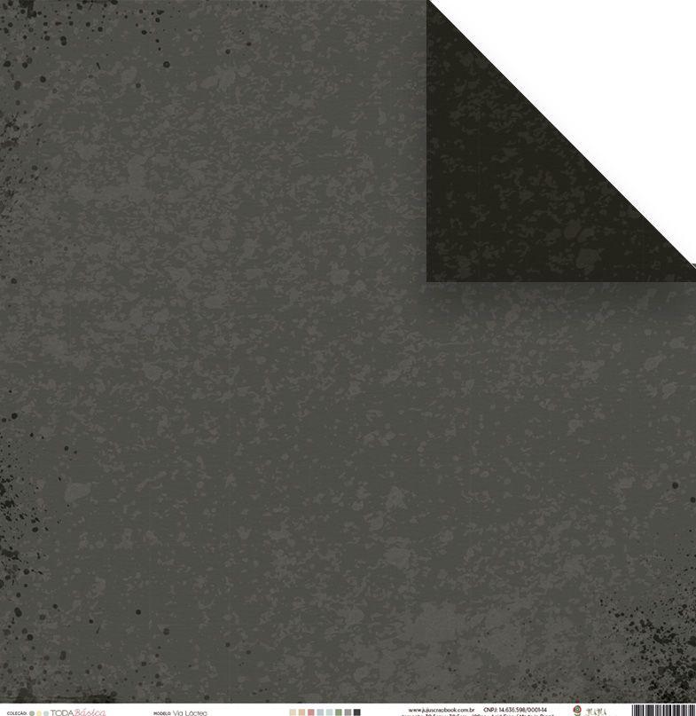Papel Via Láctea - Coleção Toda Básica / JuJu Scrapbook  - JuJu Scrapbook