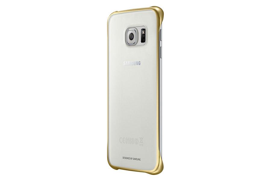 Capa Protetora Clear Galaxy S6 Edge Borda Dourada EF-QG925BFEGBR - Samsung