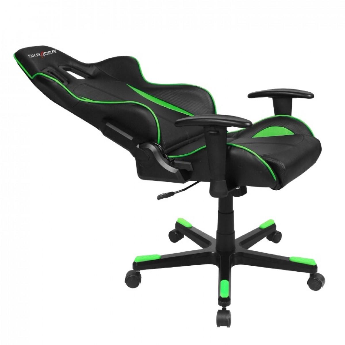 Cadeira F-Series OH/FE57/NE Preto/Verde - DXRacer