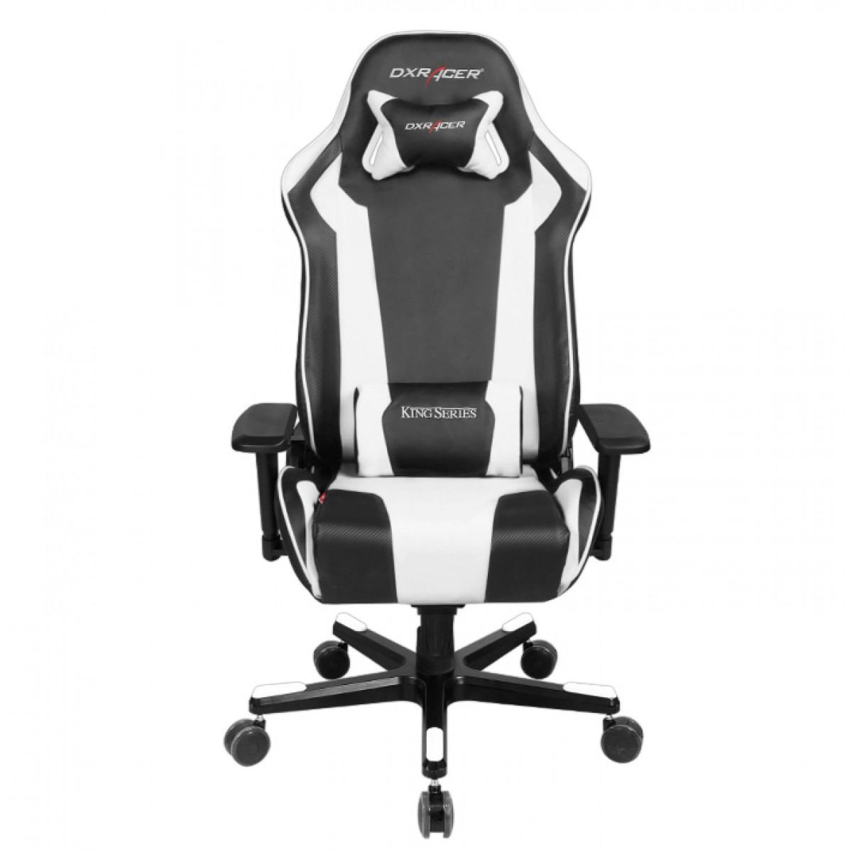 Cadeira K-Series OH/KE06/NW Preto/Branco - DXRacer
