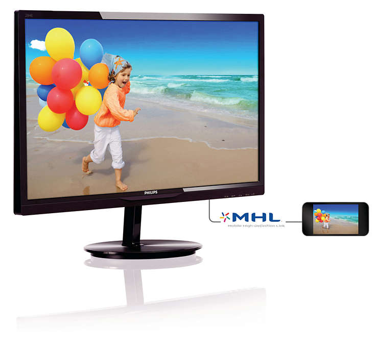Monitor LED 28 Smart Image Lite Full HD com HDMI 284E5QHAD Preto - Philips