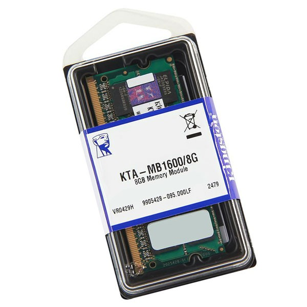 Memória para Apple KTA-MB1600L/8GB 1600Mhz Low Voltage 1.35v Sodimm - Kingston