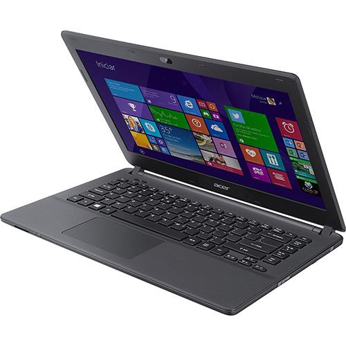Notebook ES1-411-C8FA Intel Quad Core 4GB 500GB Tela LED 14 HDMI/USB 3.0/Bluetooth Windows 8.1 Preto - Acer