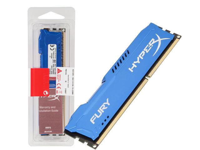 Memória HyperX 8GB 1866Mhz DDR3 DIMM Fury Blue Series HX318C10F/8 - Kingston