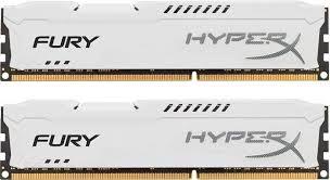 Memória HyperX 16GB 1600Mhz DDR3 DIM (kit of 2) White HX316C10FWK2/16 - Kingston