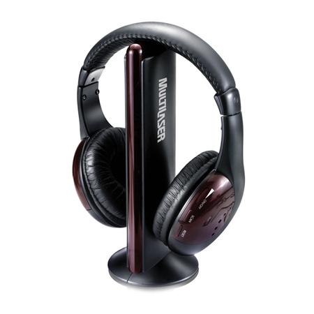 Fone de Ouvido s/ Fio 5 em 1 c/ FM s/ Microfone Preto PH036 - Multilaser