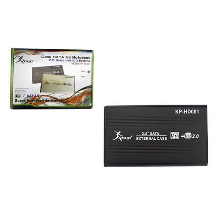 Case 2,5 Sata USB 2.0 Externo KP-HD001 CS0026KP - Knup