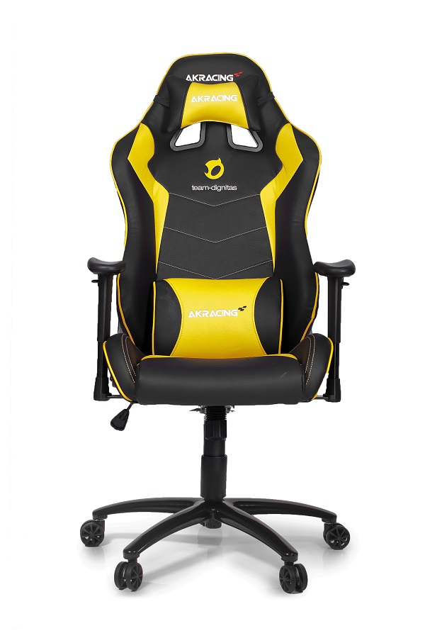 Cadeira AKRacing Dignitas Edition Max Yellow AK-DIGNITAS-MAX-YL - AKRacing