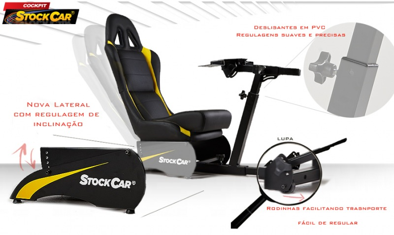 Cockpit Retrátil Preto - Stock Car
