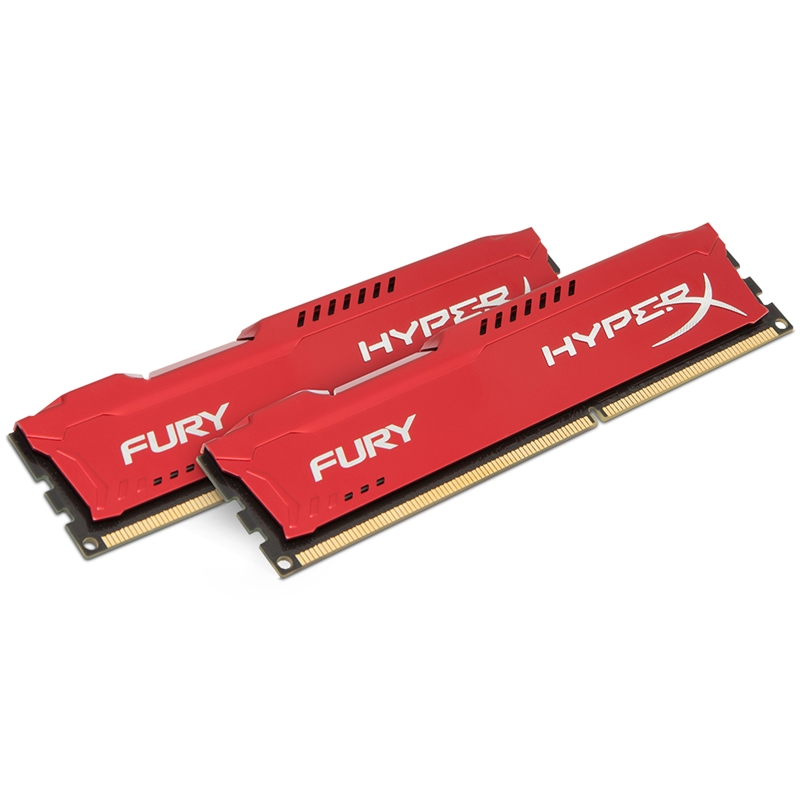 Memória HyperX Fury 16GB 1600Mhz DDR3 CL10 Red HX316C10FRK2/16 - Kingston