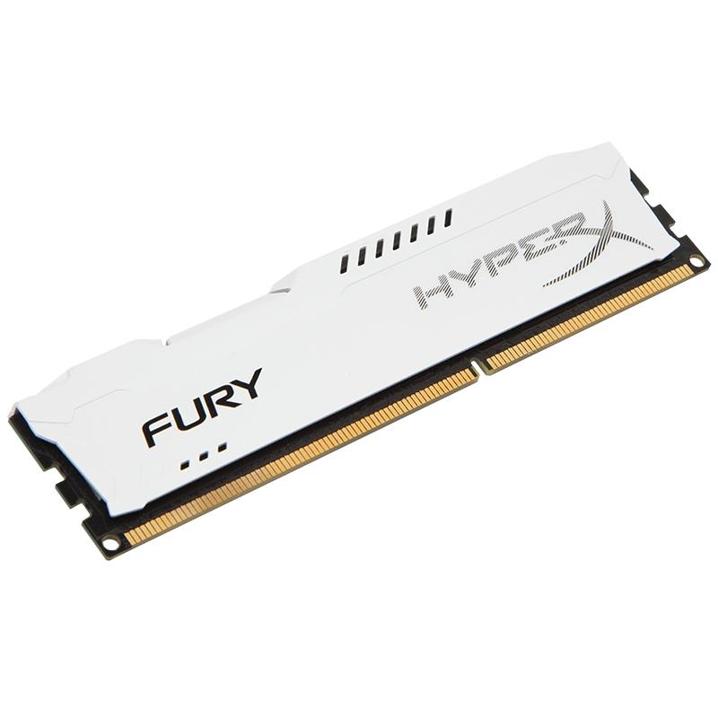 Memória HyperX Fury 8GB 1333Mhz DDR3 CL9 Dim White HX313C9FW/8 - Kingston