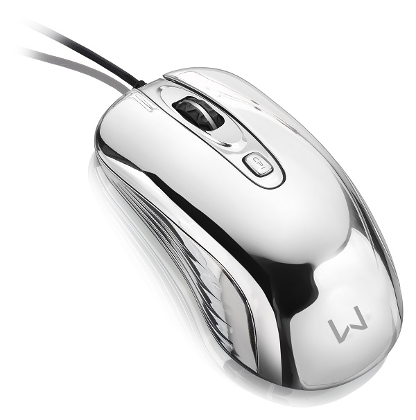 Mouse com Led USB Prateado MO228 - Multilaser