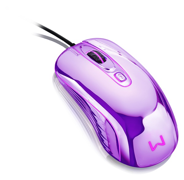 Mouse com Led USB Prateado MO228 - Multilaser