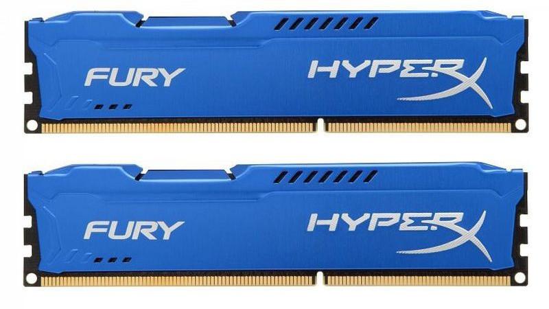 Memória HyperX Fury 16GB 1600Mhz CL10 Dim (2x8) Azul HX316C10FK2/16 - Kingston