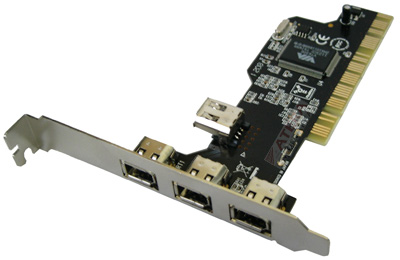 Placa PCI Firewire-1 400mbps C/4 Portas MD-4FIR-PCIM - Midcom