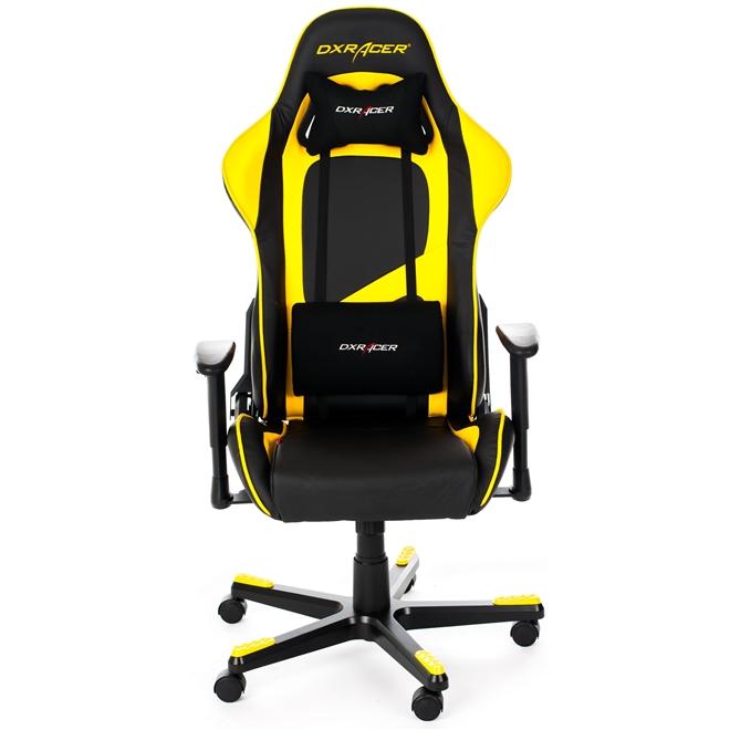 Cadeira F-Series OH/FE09/NY Preto/Amarelo - DXRacer