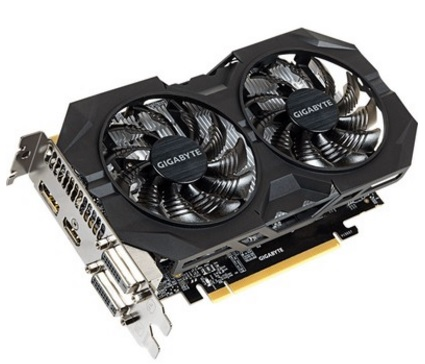 Placa de Vídeo Geforce GTX950 2GB OC Windforce 2 DDR5 GV-N950WF2OC-2GD - Gigabyte