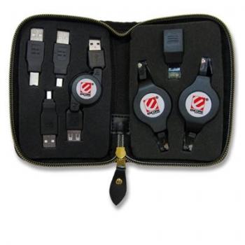 Estojo com 7 adaptadores com cabo retratil (ENCA-CTP) - Encore