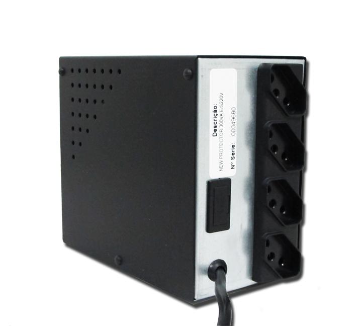 Protetor Eletrônico Preto 300VA Monovolt E/S (220V) New Protector - Lacerda
