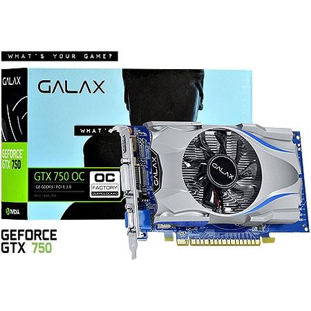 Placa de Vídeo Geforce GTX750 1GB OC Edition 128Bits 75NGH8DV9SXH - Galax