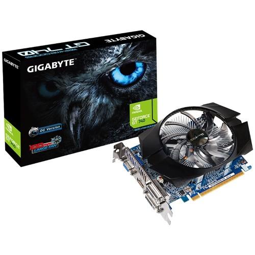 Placa de Vídeo Geforce GT740 1GB DDR5 128Bits GV-N740D5OC-1GI - Gigabyte