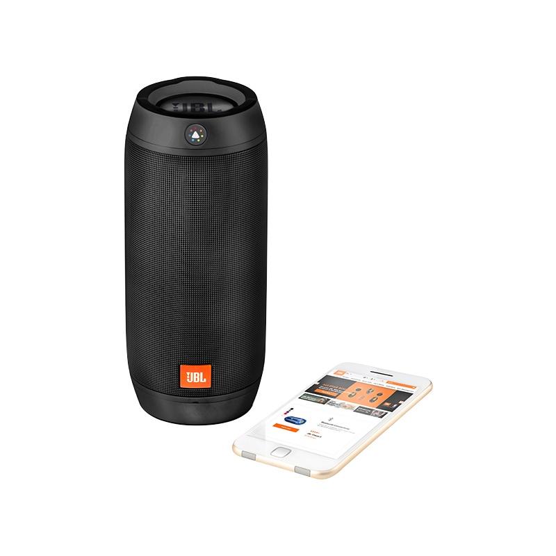 Caixa de Som Portátil Pulse 2 Bluetooth 16W RMS Iluminção LED (Resistente à Água) JBLPULSE2BLKEU - JBL