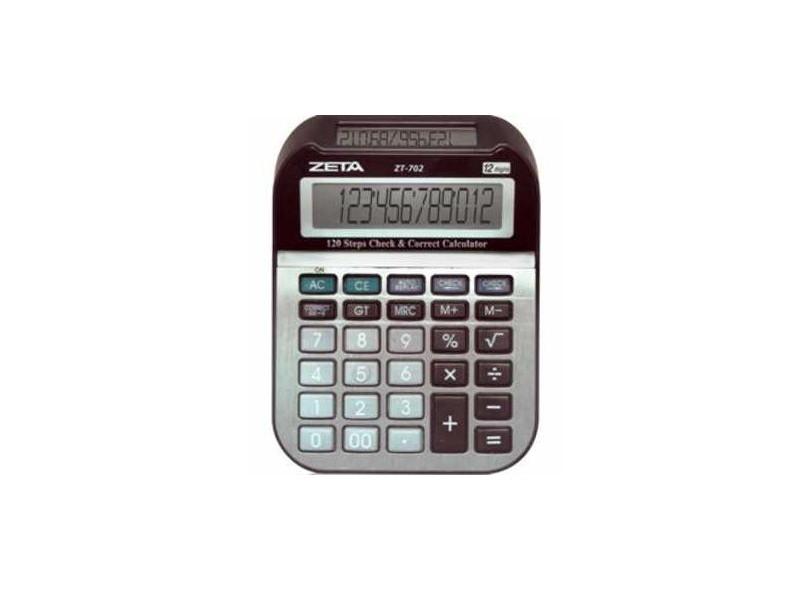Calculadora de Mesa 12 Dígitos ZT702 - Zeta