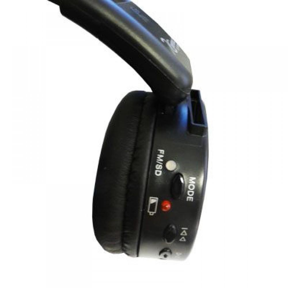 Fone de Ouvido Sem Fio Azul com Leitor de Cartoes e Radio FM DC-F200/Blue - Dotcell