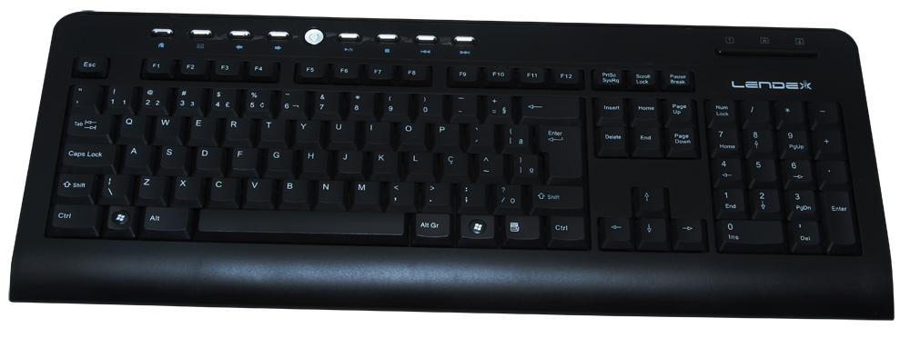 Teclado Multimídia USB LD-TC2880 - Lendex