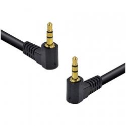 Cabo de Áudio P2 3.5 x P2 3.5 Stereo 1.5 Metros 2 Conectores de 90 Graus 35SA90-15 - Vinik