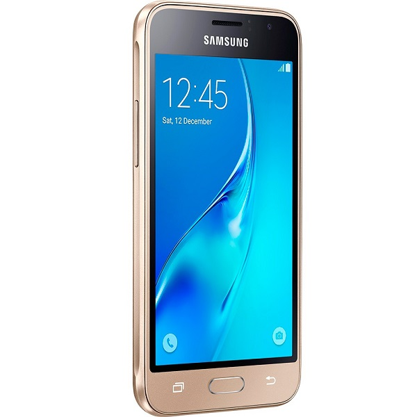 Smartphone Galaxy J1 Duos, Quad Core 1.2 GHz, Android 5.1, Tela 4.5, 8GB, 5MP, 3G, Dourado, J120H - Samsung