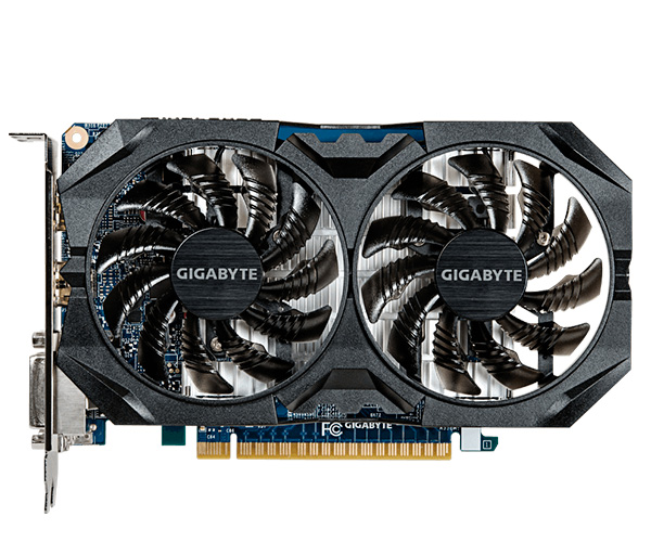 Placa de Vídeo Geforce GTX750 Ti Windforce OC 4GB 128Bits GV-N75TWF2OC-4GI - Gigabyte