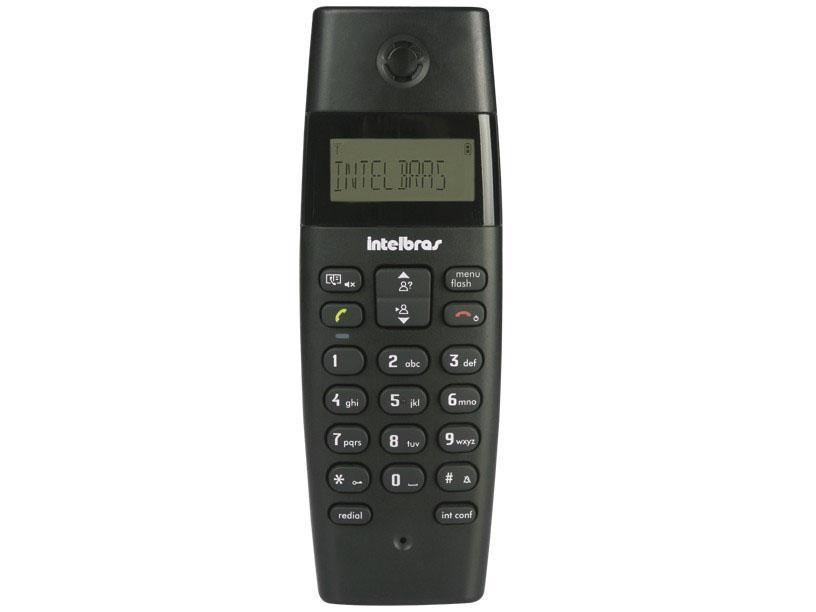 Telefone sem Fio com Identificador de Chamadas TS40 ID Preto - Intelbras