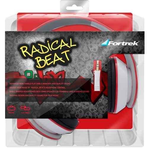 Fone de Ouvido Radical Beat HP901 Vermelho - Fortrek