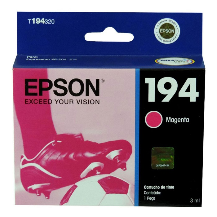 Cartucho 194 T194320BR Magenta - Epson