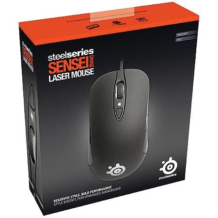 Mouse Gaming Laser Sensei Raw Preto Emborrachado 62155 - SteelSeries