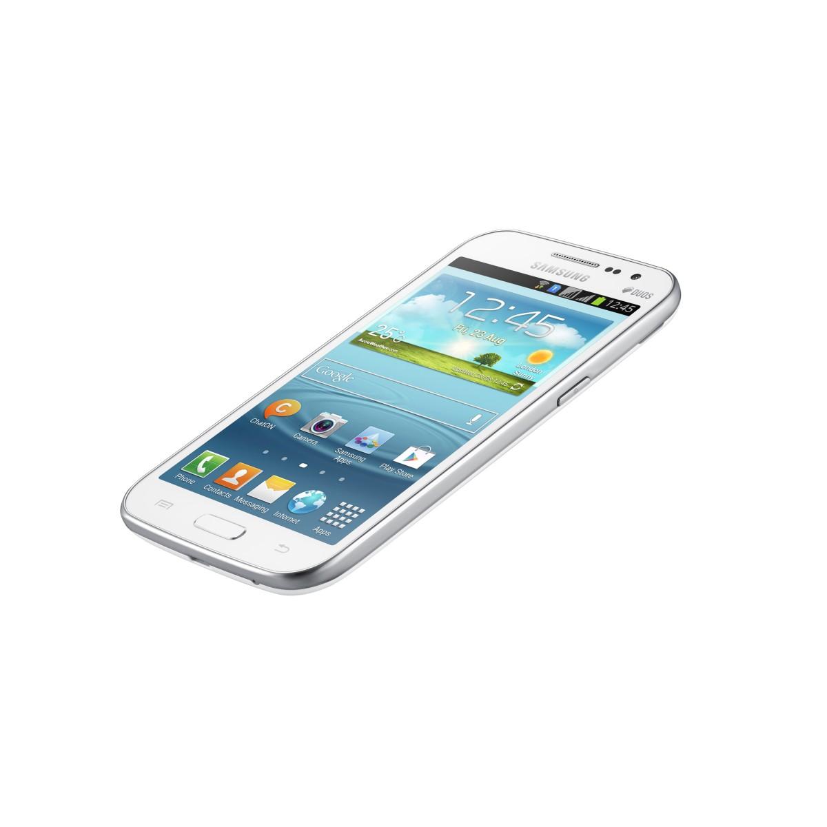 Smartphone Desbloqueado GT-I8552B Galaxy Win Duos Branco com Dual Chip, Tela de 4.7, Android 4.1, Processador Quad Core