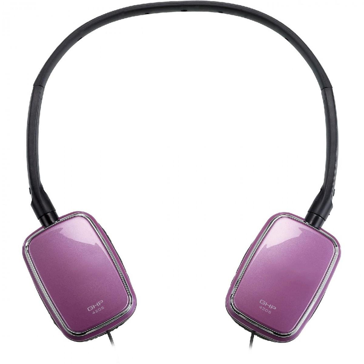 Fone De Ouvido Ipad,Iphone GENIUS 31710171101 GHP-420S Retangular Fold To Flat Roxo - Genius