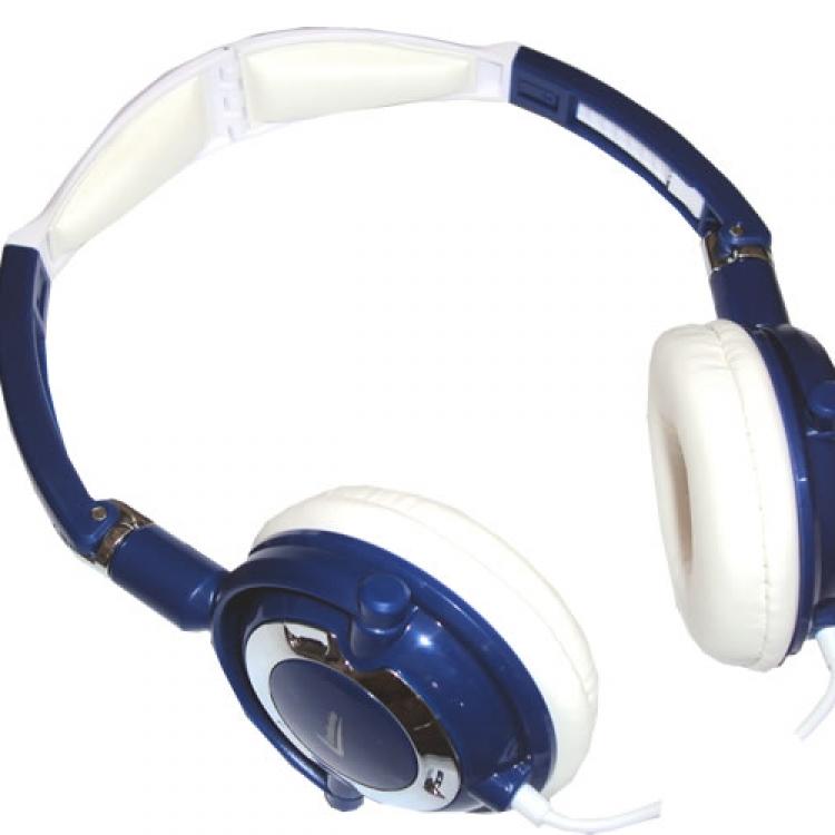 Headphone travel azul 2761 - Leadership