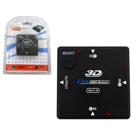 Switch HDMI 3 Portas e 1 saída HUB0008 - oem
